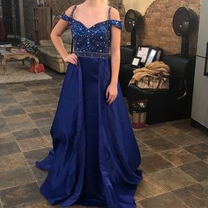 Beautiful custom royal blue dress